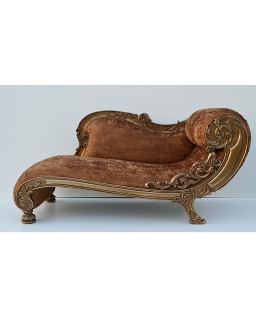 Carved Chaise Longue  (rudas)