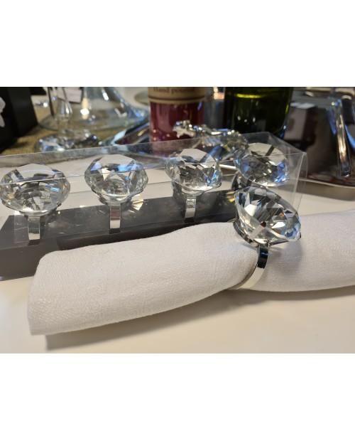 """Servetėlių žiedai """"DIAMOND RING"""" (4vnt)"""