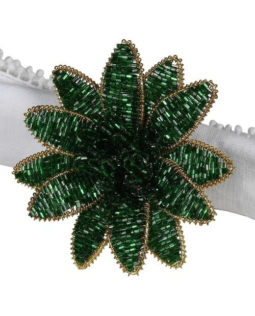 "Servetėlių žiedai ""Green Flower"" (4vnt)"