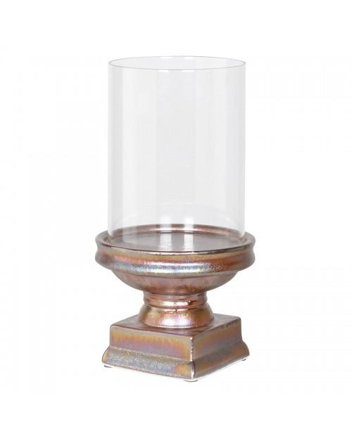 Didelė bronzos spalvos žvakidė