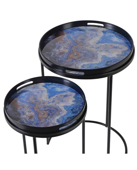 "Šoniniai staliukai ""Blue Marble"" (2 vnt.)"