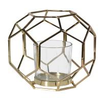 """Aukso spalvos žvakidė """" Hexagon"""""""