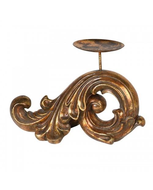 """Sendinto aukso spalvos žvakidė """"Baroque"""""""