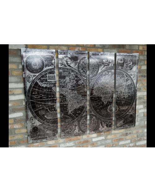 """4 dalių paveikslas """"World Map"""""""