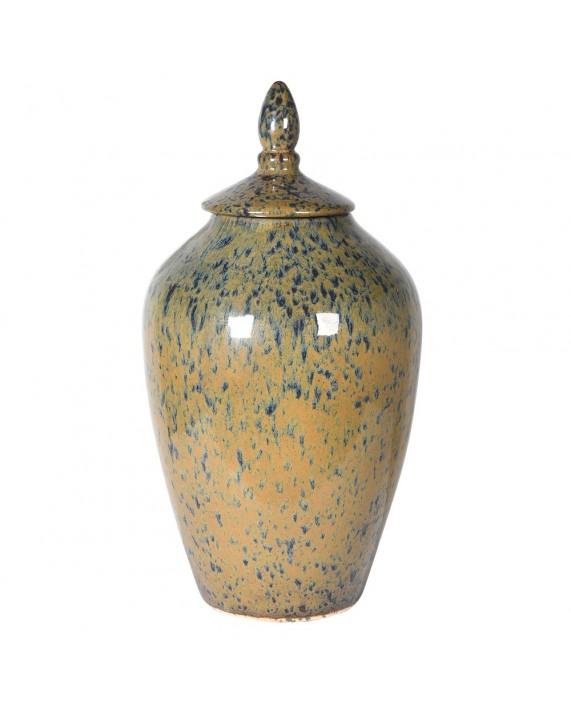 """Keramikinis indas su dangčiu """"Green and Mustard"""" (didelė)"""