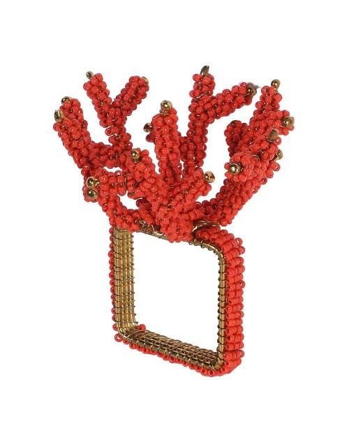 """Servetėlių žiedai """"Coral Red"""" (4vnt.)"""