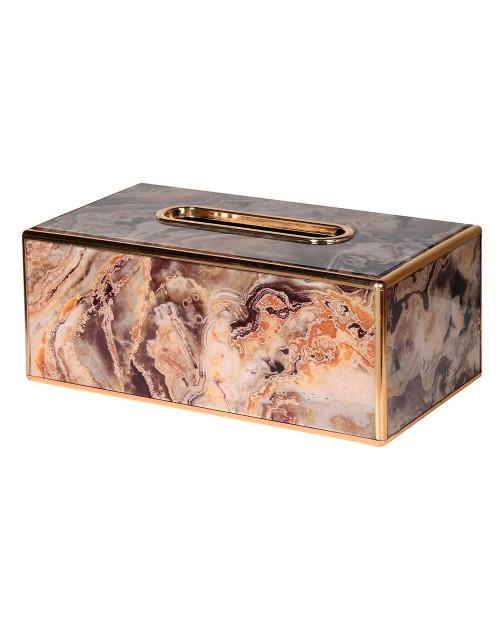 """Servetėlių dėžutė """"Marble Brown"""""""