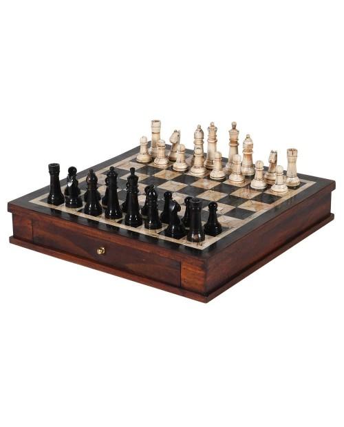 """Šachmatų lenta su šachmatais """"Bone & Horn"""""""