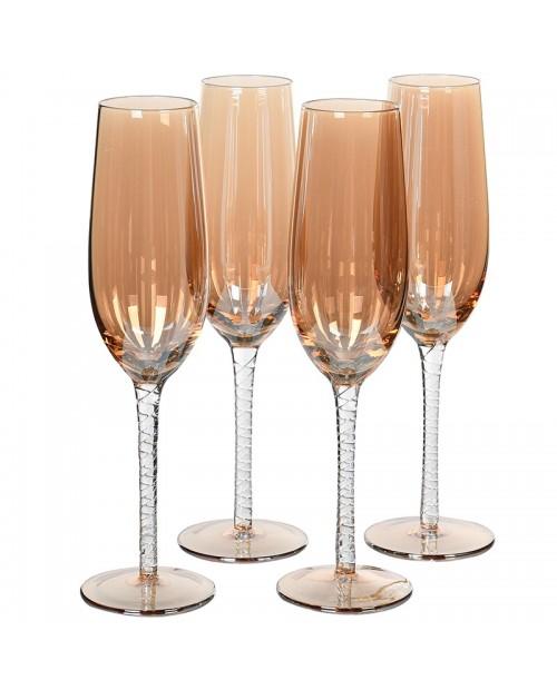 "Šampano taurės ""Amber"" ( 4vnt.)"