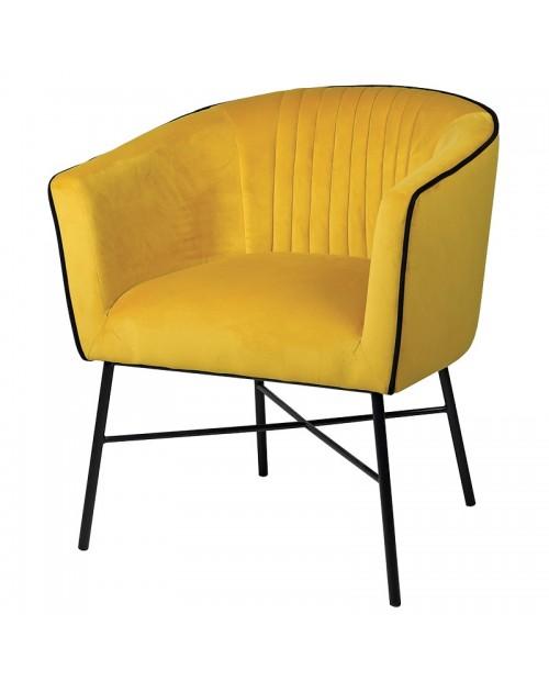 "Krėslas ""Viola Mustard"""