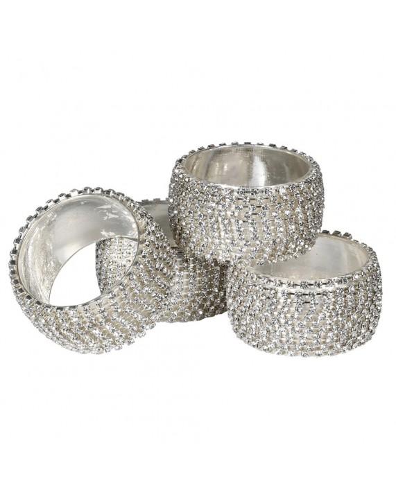 """Servetėlių žiedai """"Diamante"""" 4vnt"""