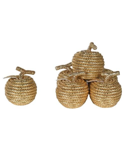 "Dekoracija ""Gold Rope Apple"" (6vnt)"