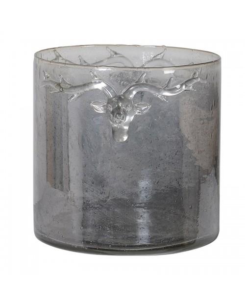 """Maža tamsinto stiklo žvakidė/vaza """"Reindeer"""""""