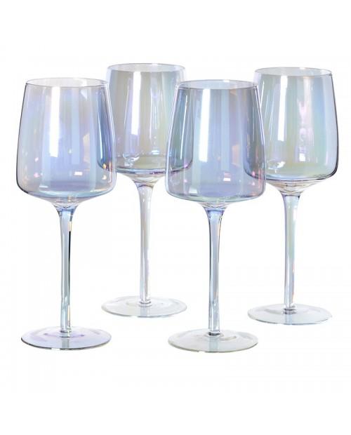 Blizgaus stiklo vyno taurių komplektas 4vnt.