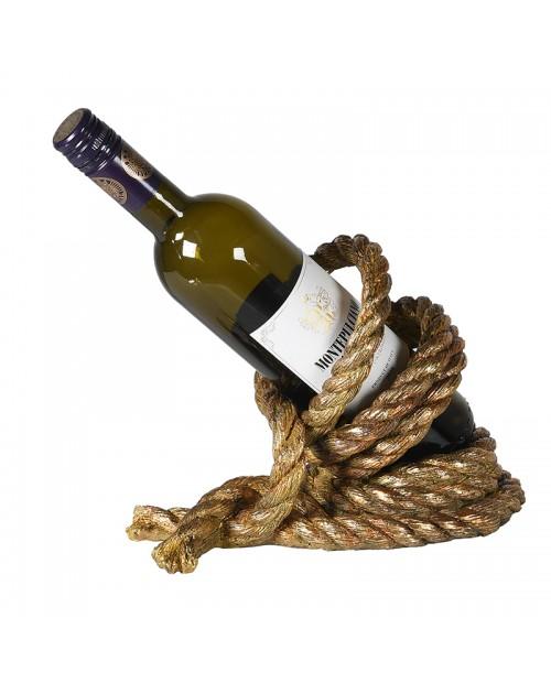 """Vyno butelio laikiklis """"Gold Rope"""""""