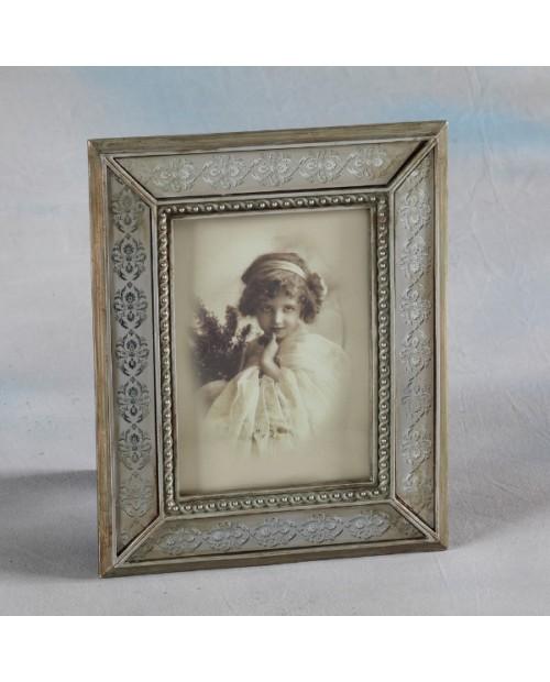 Alavinis foto rėmelis dekoruotas graviruotu stiklu