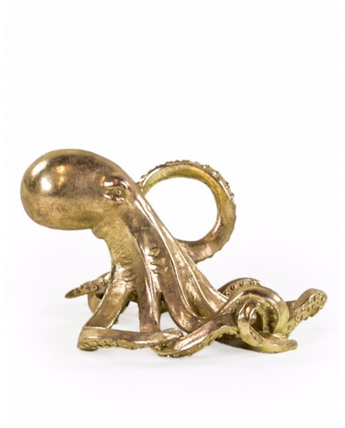 """Vyno butelio laikiklis """"Gold Octopus"""""""