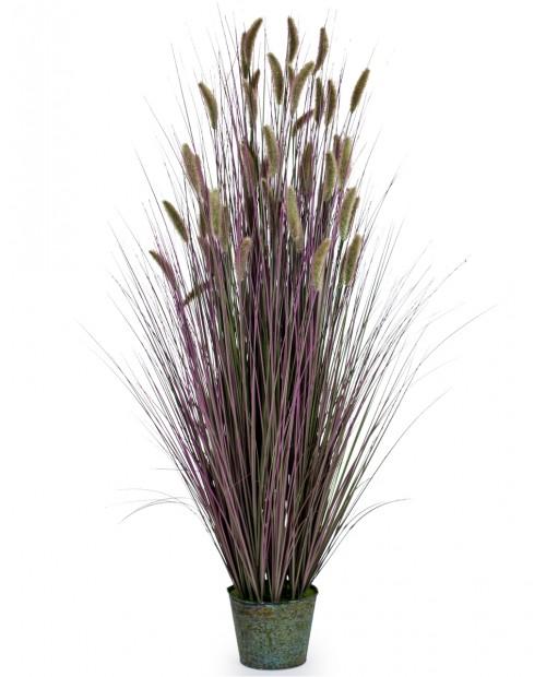 """Dirbtinė gėlė """"Purple Grasses"""" kibirėlyje"""