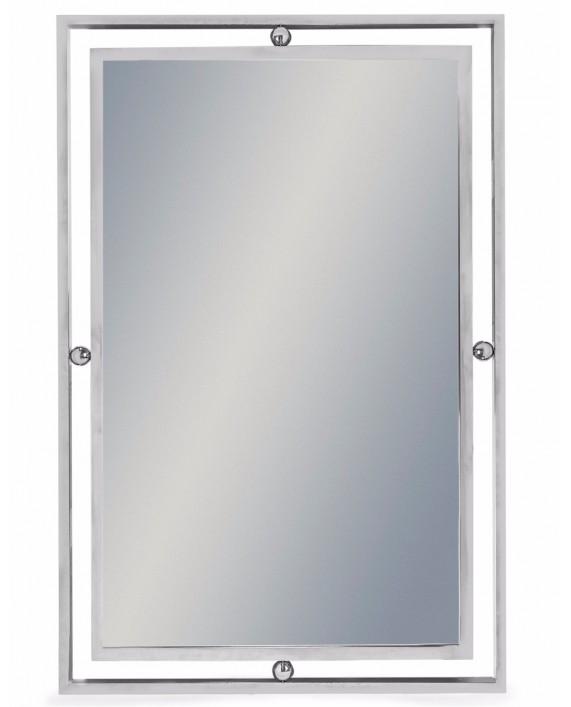 Plieno spalvos sieninis veidrodis