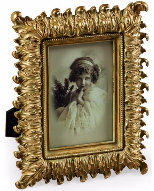 "Antikvarinio stiliaus aukso spalvos foto rėmelis ""Gold Fern"""