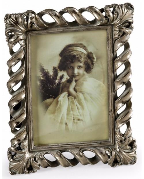 """Antikvarinio stiliaus sidabro spalvos foto rėmelis """" Twist"""""""