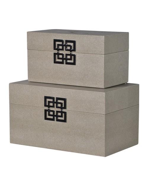 """Dėžučių komplektas """"Grey"""" 2vnt"""