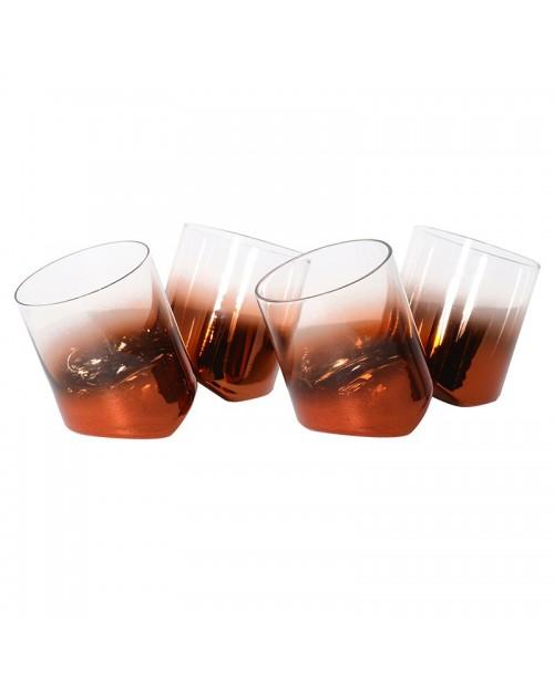 """Pasvirusios stiklinės """"BRONZE"""" (4 vnt.)"""