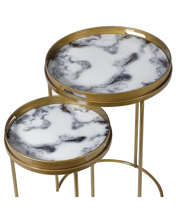 """Šoninis staliukas """"White Marble"""" (mažas)"""